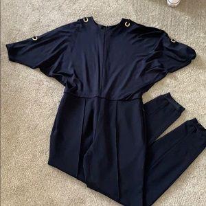 ESCADA Navy Blue Jumpsuit. Sz 40.